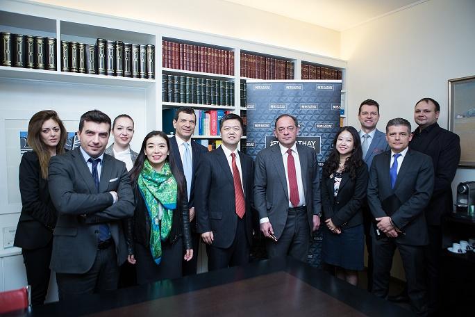 Members of Souriadakis Tsibris Law Partnership, and Cathay Associates Kejie, Budapest and Poland.